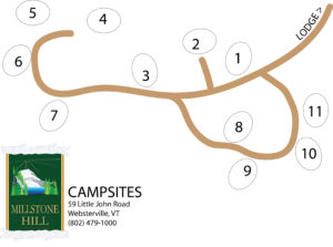 Millstone Campsites Map